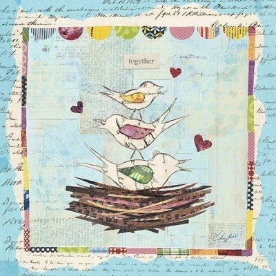 Family of Love Birds Square