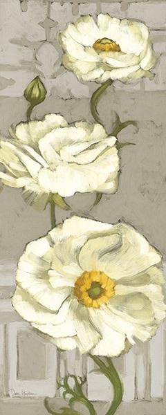 Pinwheel Whites I on Gray