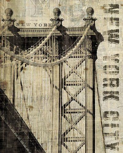 Vintage NY Manhattan Bridge