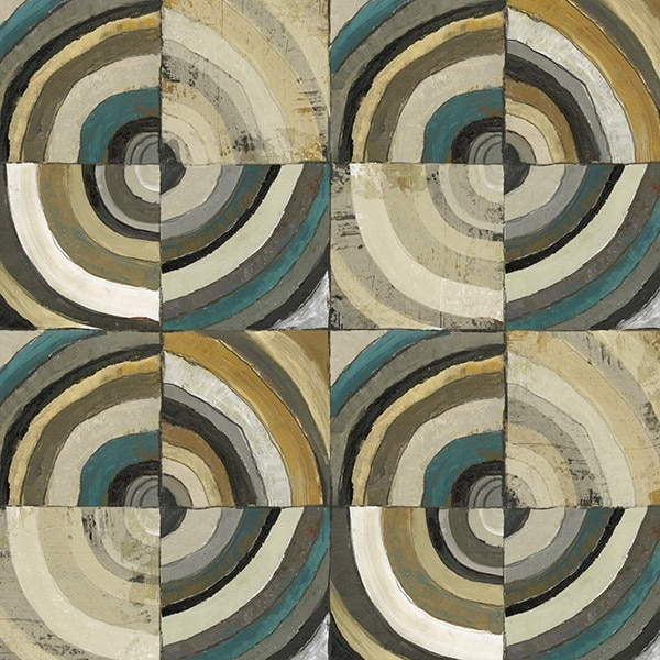 The Center II Abstract Turquoise