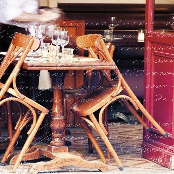 Paris Cafe Letter