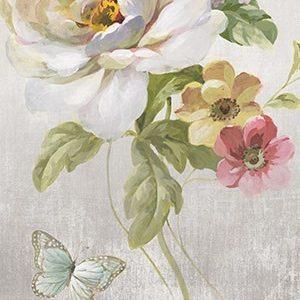 Textile Floral Panel II