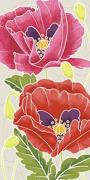 Sunshine Poppies Panel II