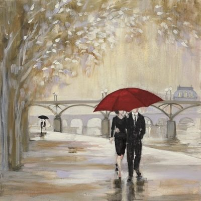 Romantic Paris III Red Umbrella