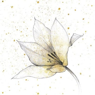 Gilded Graphite Floral IX