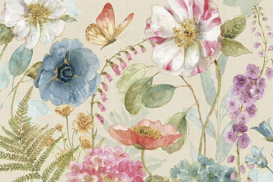 Rainbow Seeds Flowers I Linen