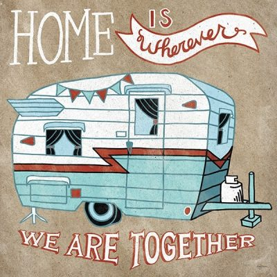 Adventure Love Camper Taupe