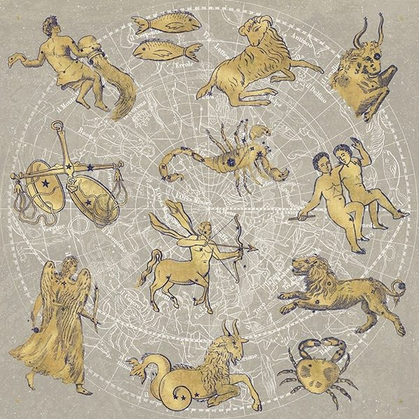 Gilded Zodiac Signs