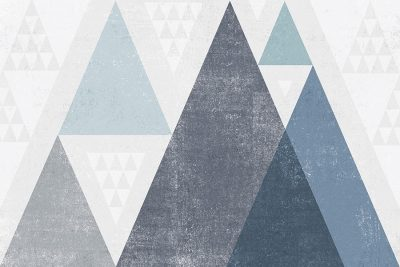 Mod Triangles I Blue