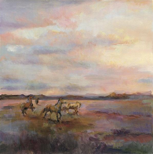 Mustangs Under Big Sky
