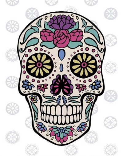 Sugar Skull III on Gray