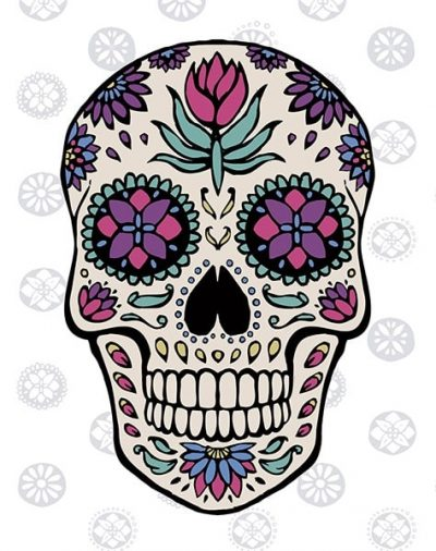 Sugar Skull IV on Gray