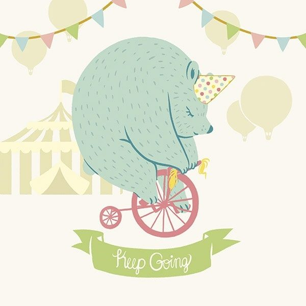 Little Circus Bear Pastel