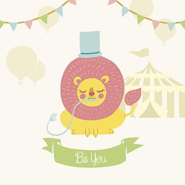 Little Circus Lion Pastel