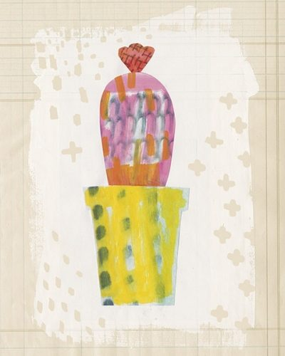 Collage Cactus V on Graph Paper