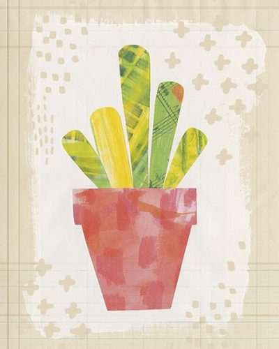 Collage Cactus VI on Graph Paper
