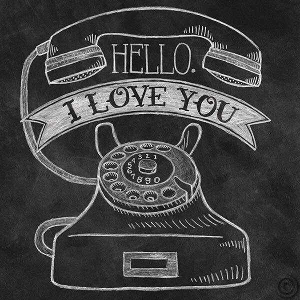 Hello I Love You Chalk