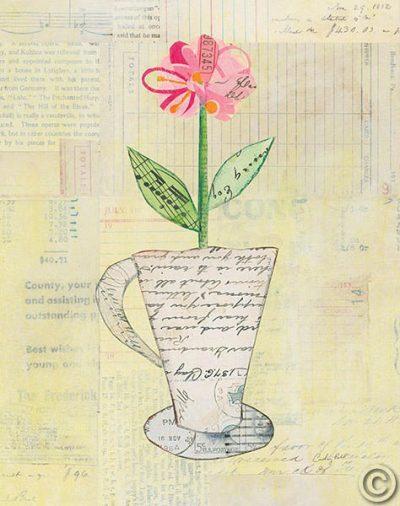 Teacup Floral II on Print