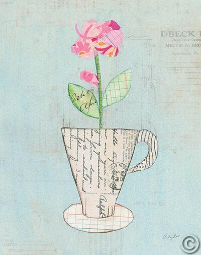 Teacup Floral III on Print