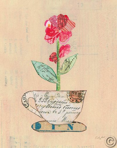 Teacup Floral IV on Print