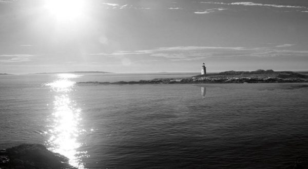 Lighthouse Sound Black and White