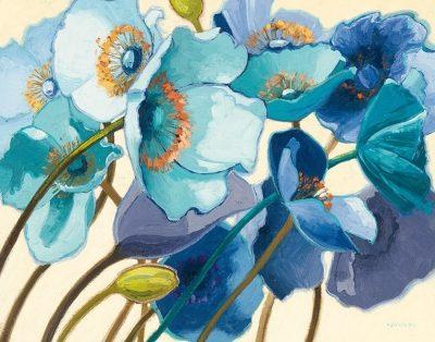 Le Pavots Bleu - 28x22