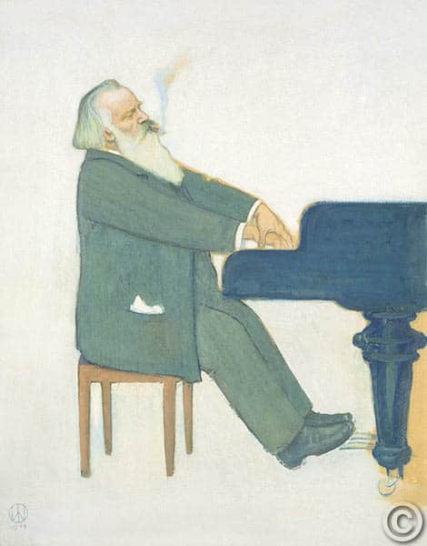 R1089 - Johannes Brahms at the piano