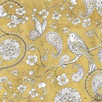W28923 200x200 - Color my World Bird Paisley I Gold
