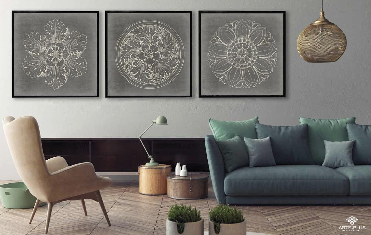 C mo elegir el cuadro ideal de acuerdo al tama o del sof for Decorar salon con cuadros grandes