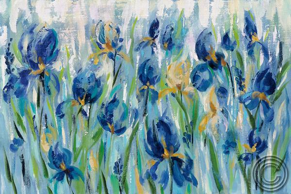 Obra de SILVIA VASSILEVA llamada IRIS FLOWER BED con referencia W34107
