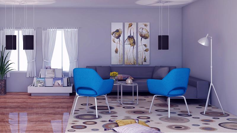 Colores secundarios en la decoración con cuadros