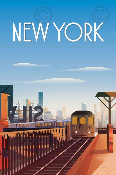 "New York City 🖼 Cuadro Decorativo ""Carteles, Ciudades, New"
